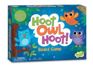 Hoot owl hoot best board game for toddlers and preschoolers