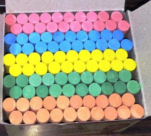 Colorful chalk pic