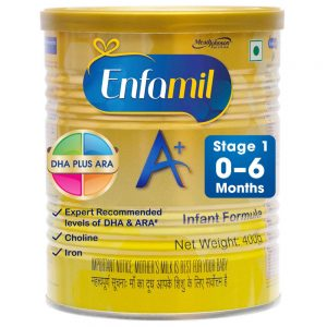 Enfamil A plus best formula milk for baby 0 6 months available in India