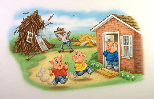 Three little pigs moral stories for kids