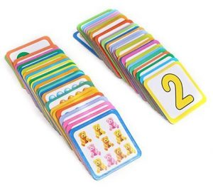 Creative Number Match Cards Game best educational toys for 3 years old kids