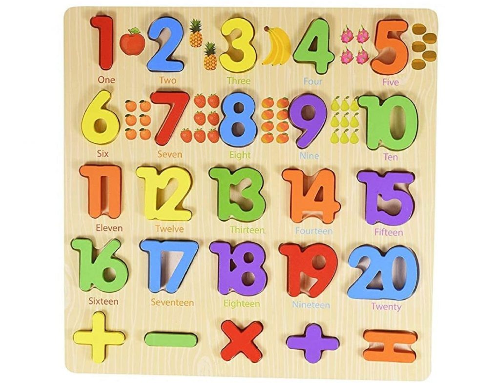 Lazy Toddler Number toy tray Best Educational toys for 3 Year Olds