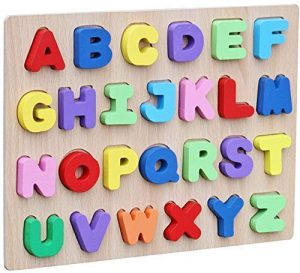Webby Wooden Capital Alphabets Letters Puzzle Toy Best Educational toys for 3 Year Olds