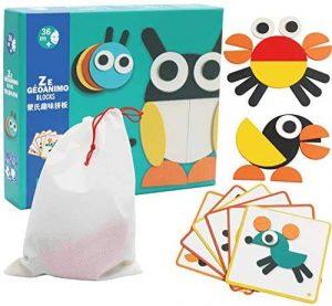 AdiChai Multi Coloured Wooden Puzzles for Kids