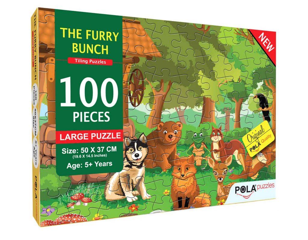 Pola Puzzles The Furry Bunch 100 pc set