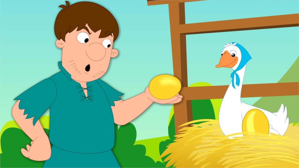 the goose that laid golden eggs moral stories for kids