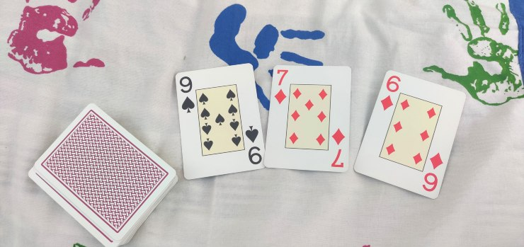 Largest number game Mental Math using Playing Cards