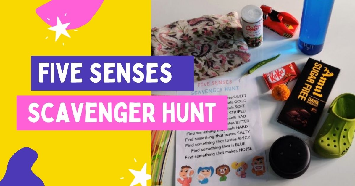 Five Senses Scavenger Hunt at Home