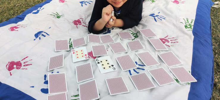 memory game with playing cards
