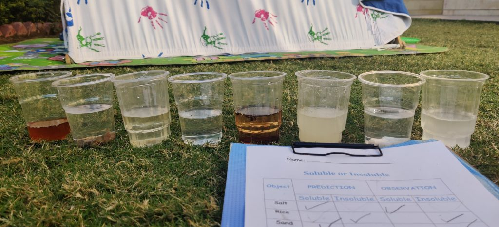 Soluble and Insoluble Experiment