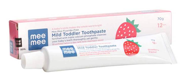 Mee Mee Fluoride-Free Strawberry Flavor Toothpaste