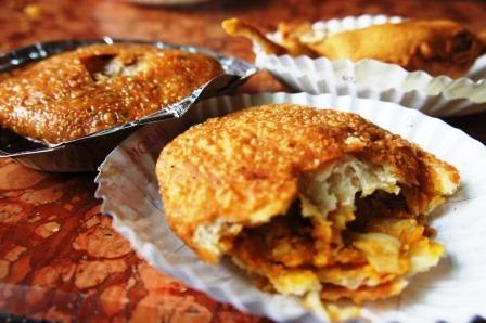 Pyaaz ki Kahori at RAwat Mishthan Bhandar Best Breakfast Places in Jaipur