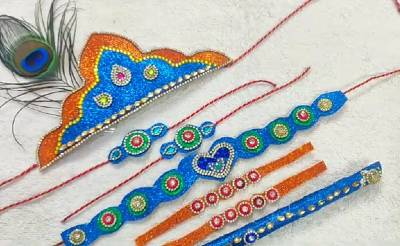 Krishna jewellery making at home