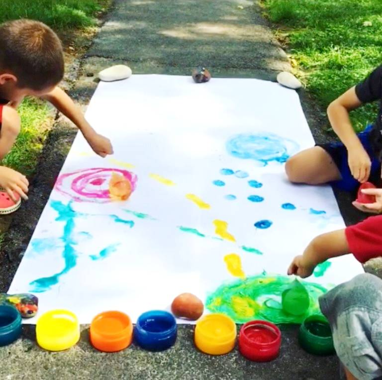 balloon water painting Holi art and craft