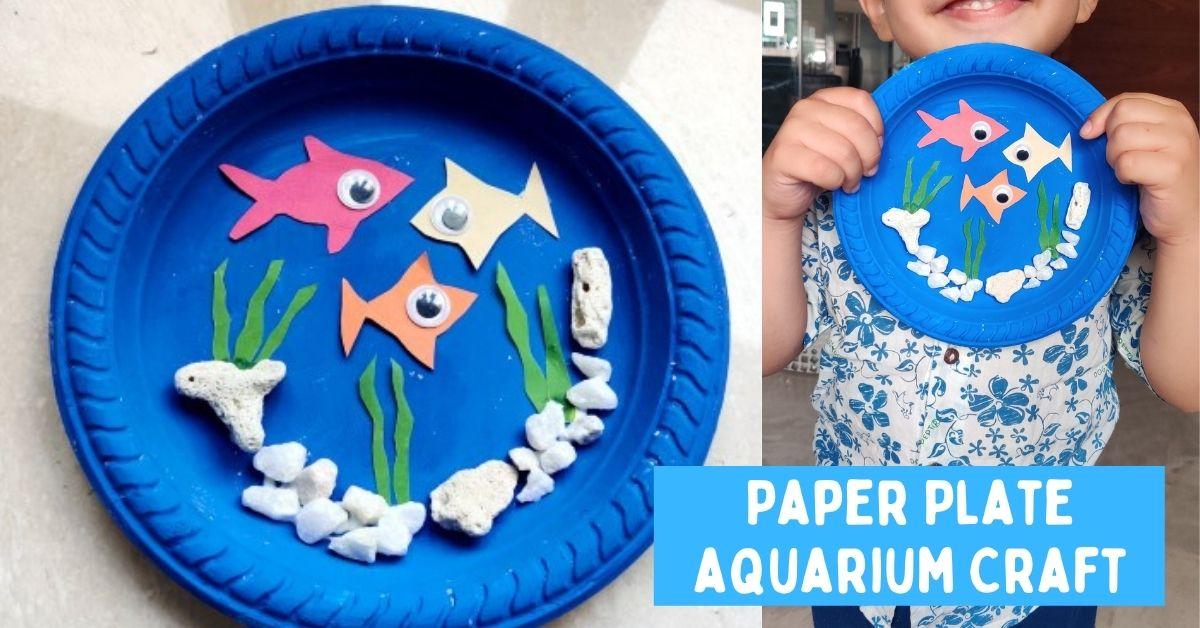 Paper Plate Aquarium Craft for Kids