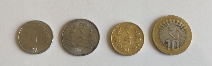 different coins in India
