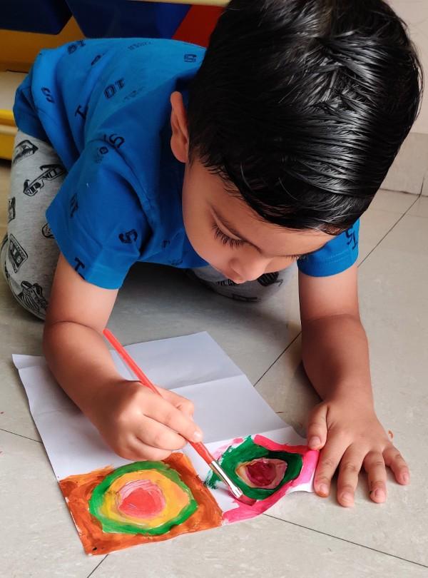 Kandinsky Inspired Circle Art for Kids