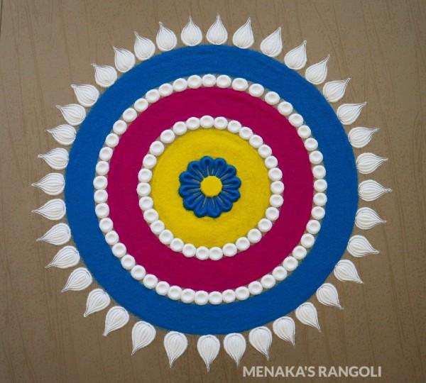 rangoli for kids simple designs