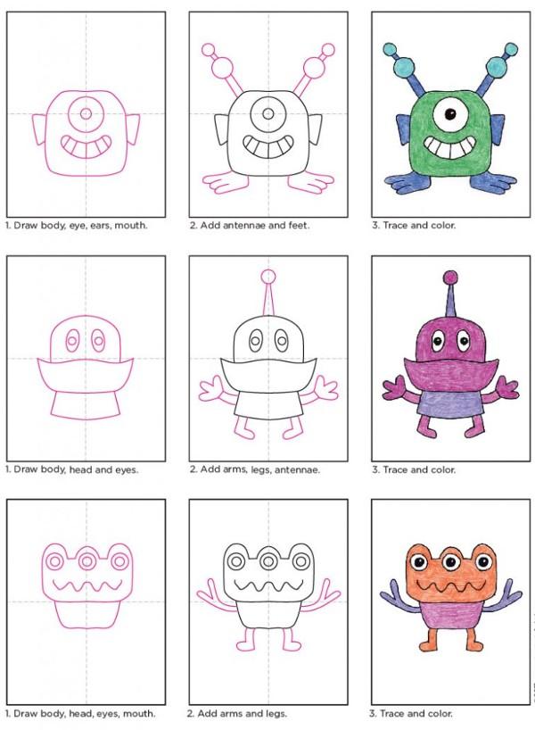 Simple Drawings for Kids alien