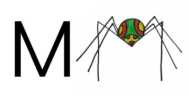 Drawing with Letter M