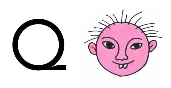 Drawing with Alphabets Q