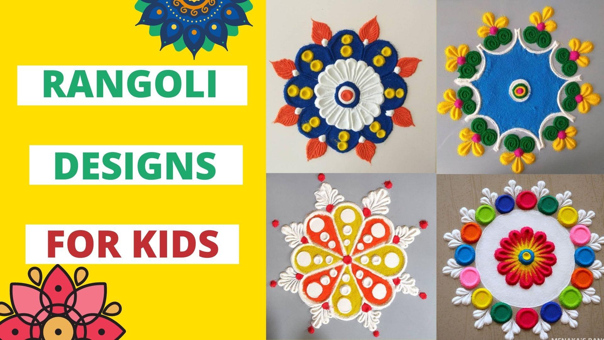 Easy Rangoli Designs for Kids