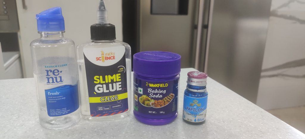 Supplies Required to  Make Slime Monster at Home