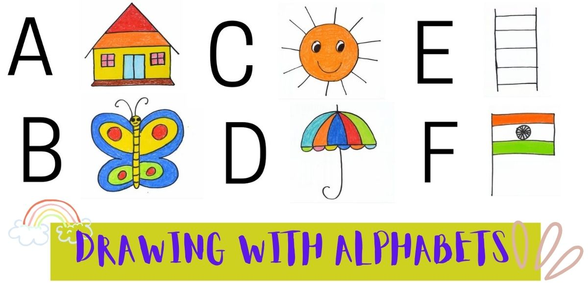 Drawing with Alphabets A to Z for Kids