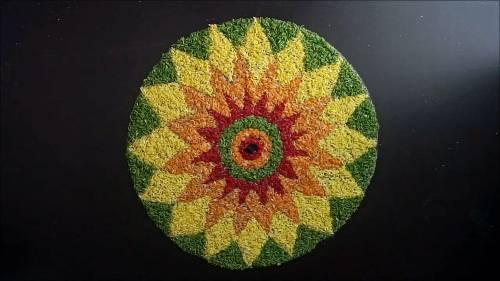 Rangoli Designs with grains