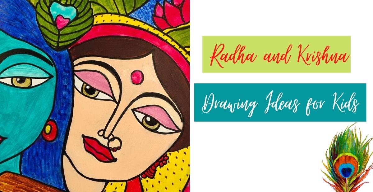 Easy and Simple Radha Krishna Drawing Ideas for Kids