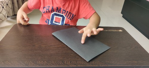 Fold paper for Easy Galaxy Painting for Kids