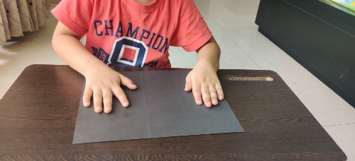 take black paper for Easy Galaxy Painting for Kids