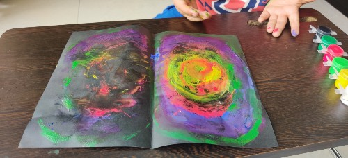 Easy Galaxy Painting for Kids