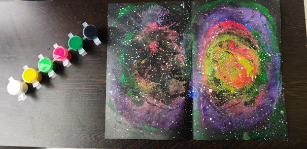Easy Galaxy Painting Idea for Kids