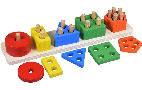 Geometric Shape Sorter Toy Educational Toys for 2 year olds