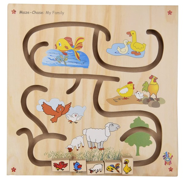 Educational Toys for 2 year olds wooden maze chase