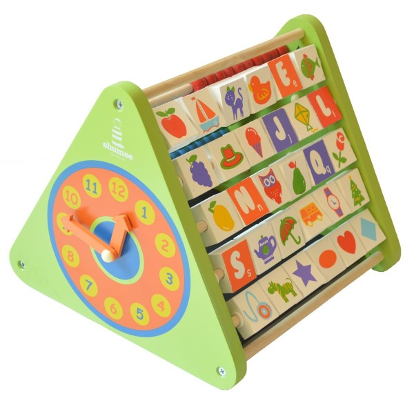 Wooden Activity Triangle Educational Toys for 2 year olds