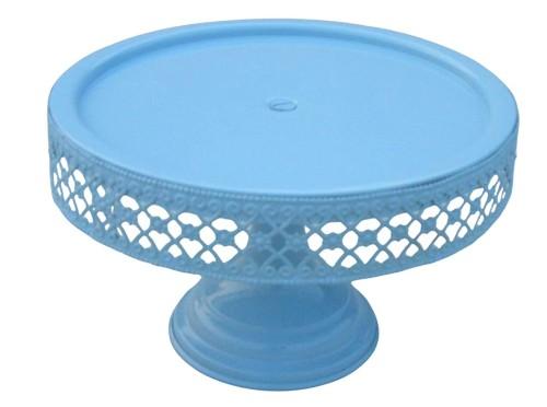 Blue PedestalCake Stand