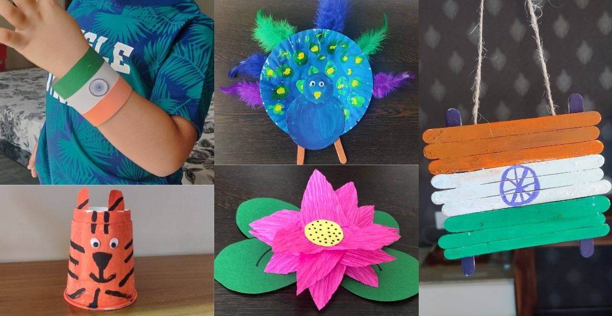 National Symbols of India Craft Ideas for Kids