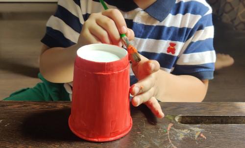 Paper Cup Tiger Craft Idea painr cup orange