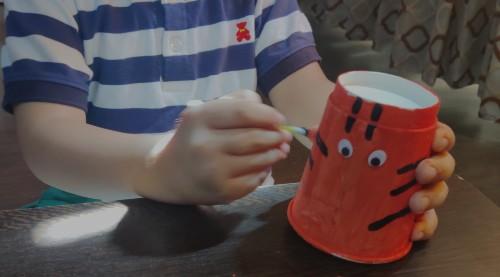 National Symbols of India Paper Cup Tiger Craft Idea add stripes