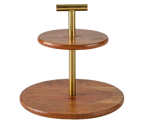 Two Tier Wooden Cake Stand Online India