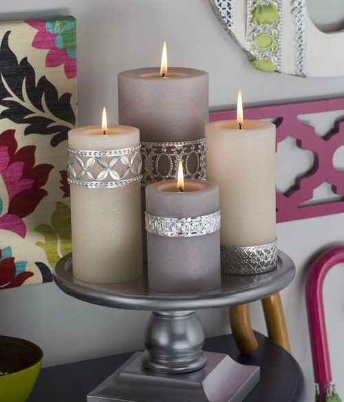 candle on cake stand