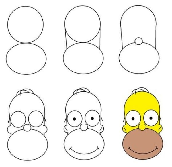 simpson drawing for kids
