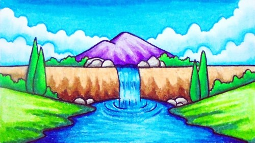 Scenery for Kids waterfall
