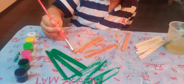 National Flag with Popsicle Sticks paint