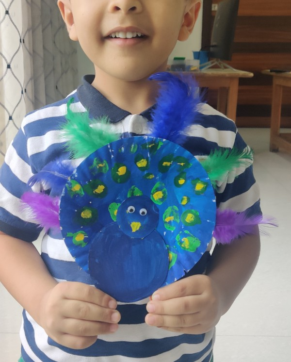 National Symbols of India Craft Ideas Peacock