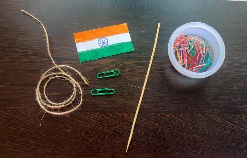 supplies needed for flag hoist craft idea