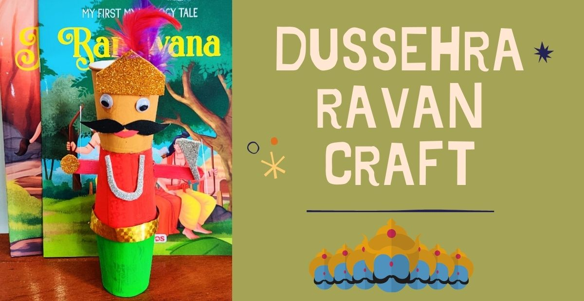 Dussehra Ravan Craft for Kids