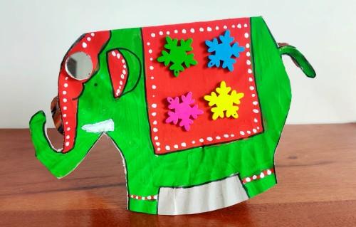 elephant art for dussehra